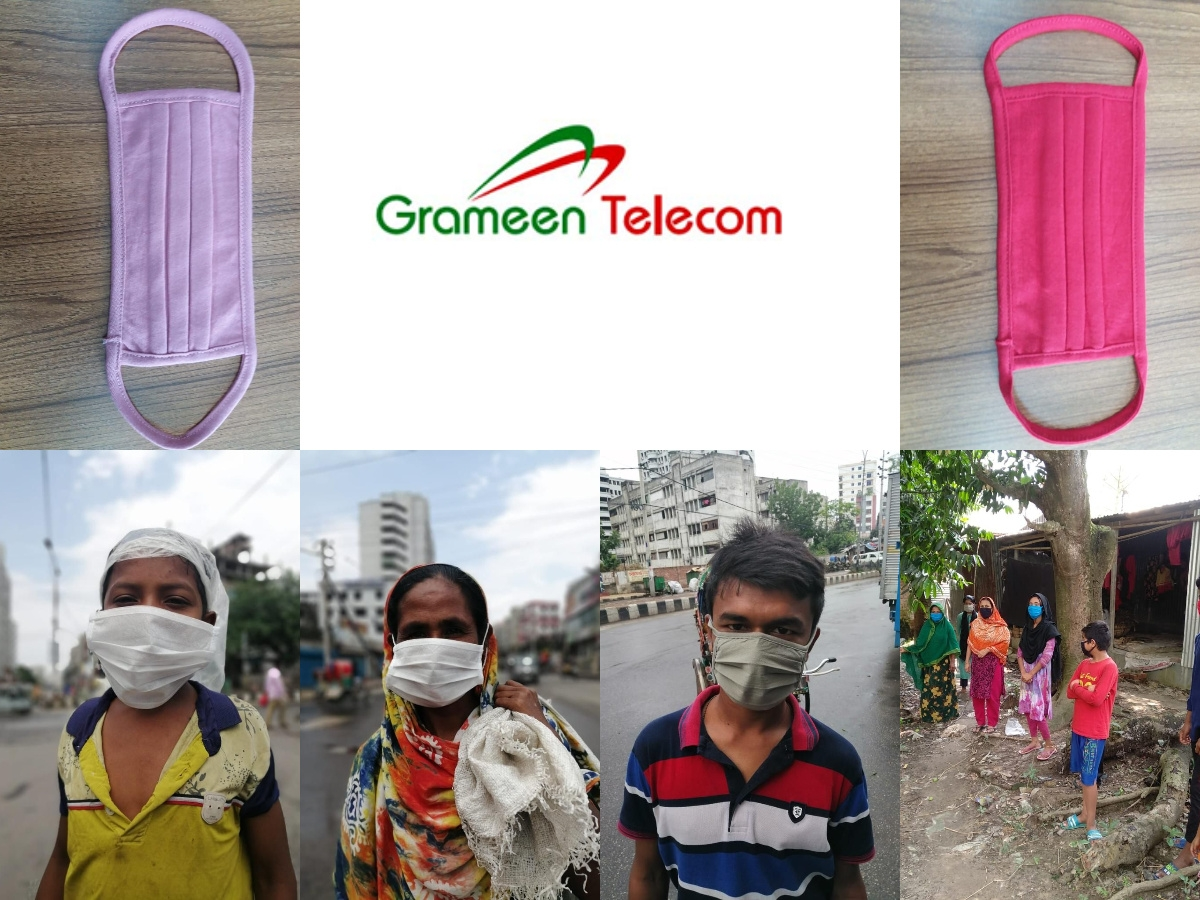 One Million Free Non-Medical Face Masks Provided by Grameen Telecom
