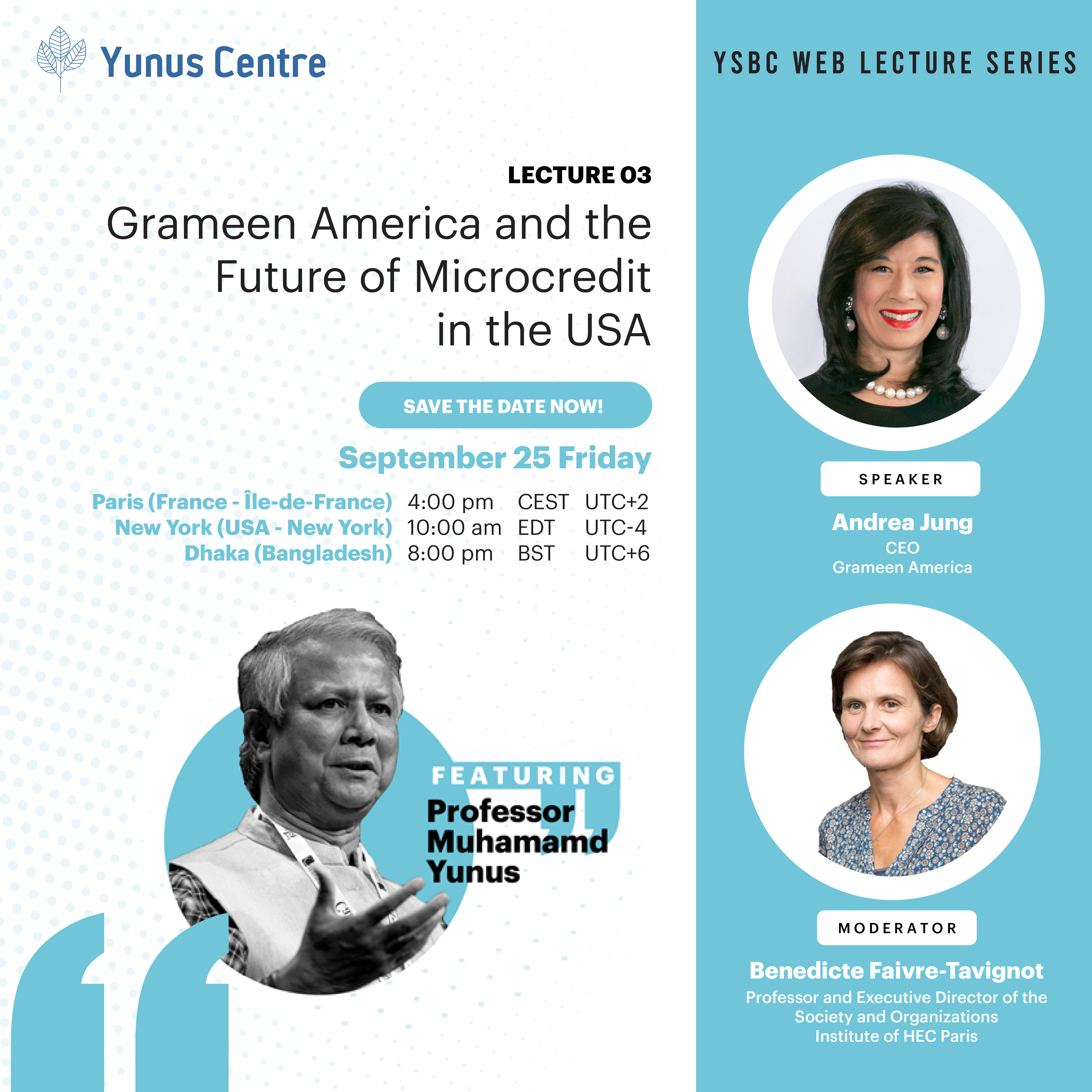Registration now open for Lecture 03 of YSBC Web Lecture Series