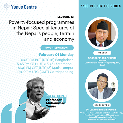YSBC Web lecture Series - Lecture#12: Poverty-focused programmes in Nepal: Special features of the Nepal's people, terrain and economy.