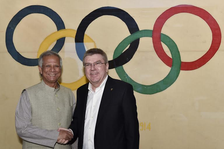 Yunus Proposes Social Orientation to Olympic Games