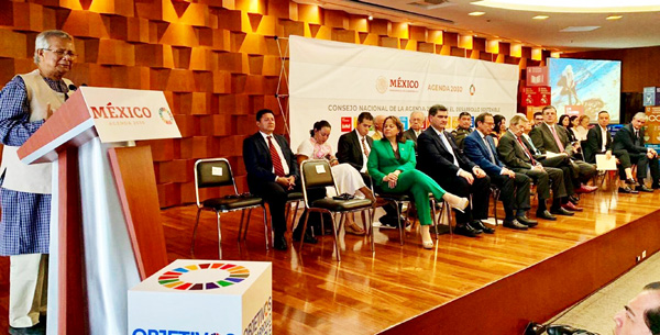 Yunus Addresses National Conference in Mexico As a Guest of The President of Mexico